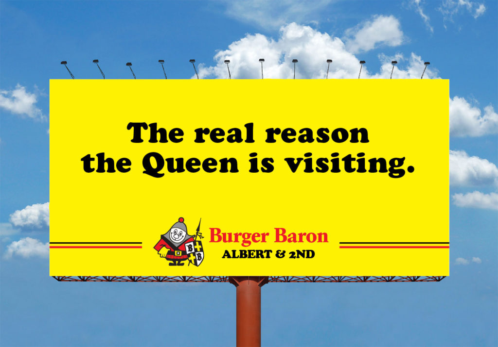 burger baron billboard